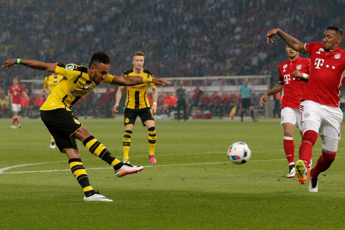 Pierre-Emerick Aubameyang led Dortmund with 40 goals in all competitions during 2015-16.