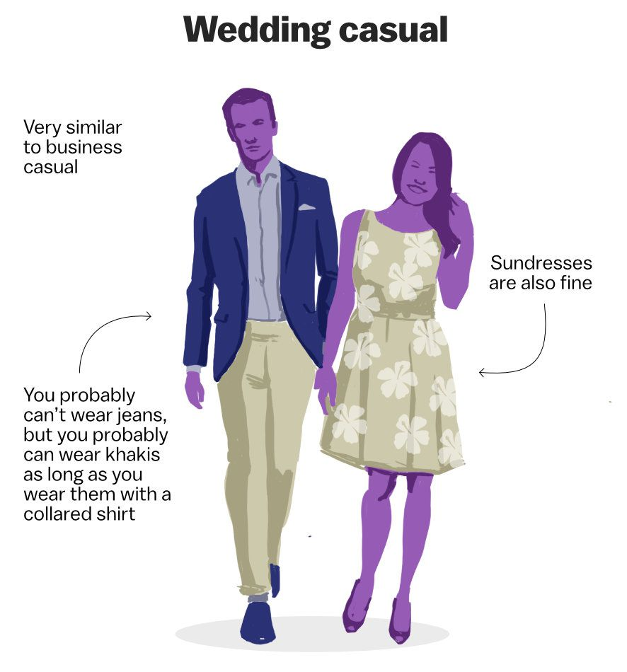 Decoding The Wedding Dress Code Vox,Casual Simple Beach Wedding Dresses