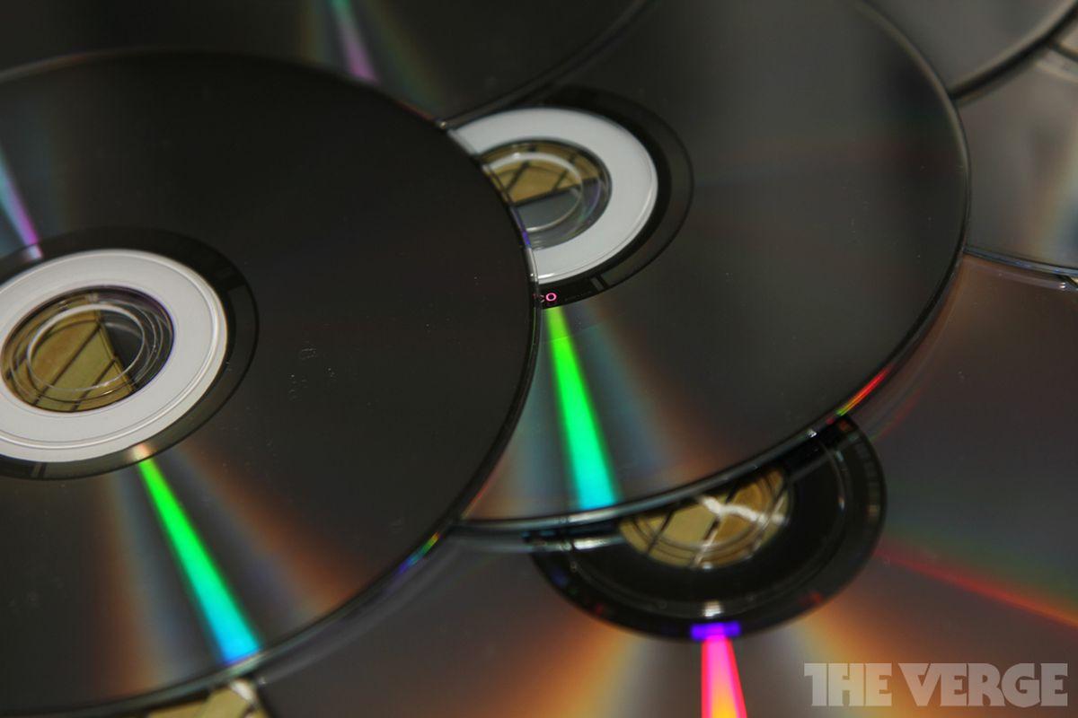 optical disc dvd cd pile stock 1024