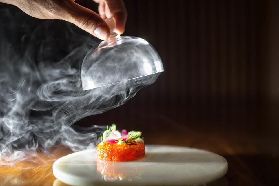 Salmon tartare at Aquavit