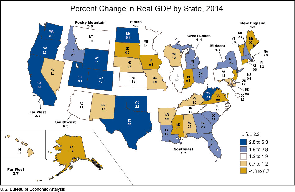 What Us States Look Like Based On Their Economic Size Mapped Vox - Us-gdp-map