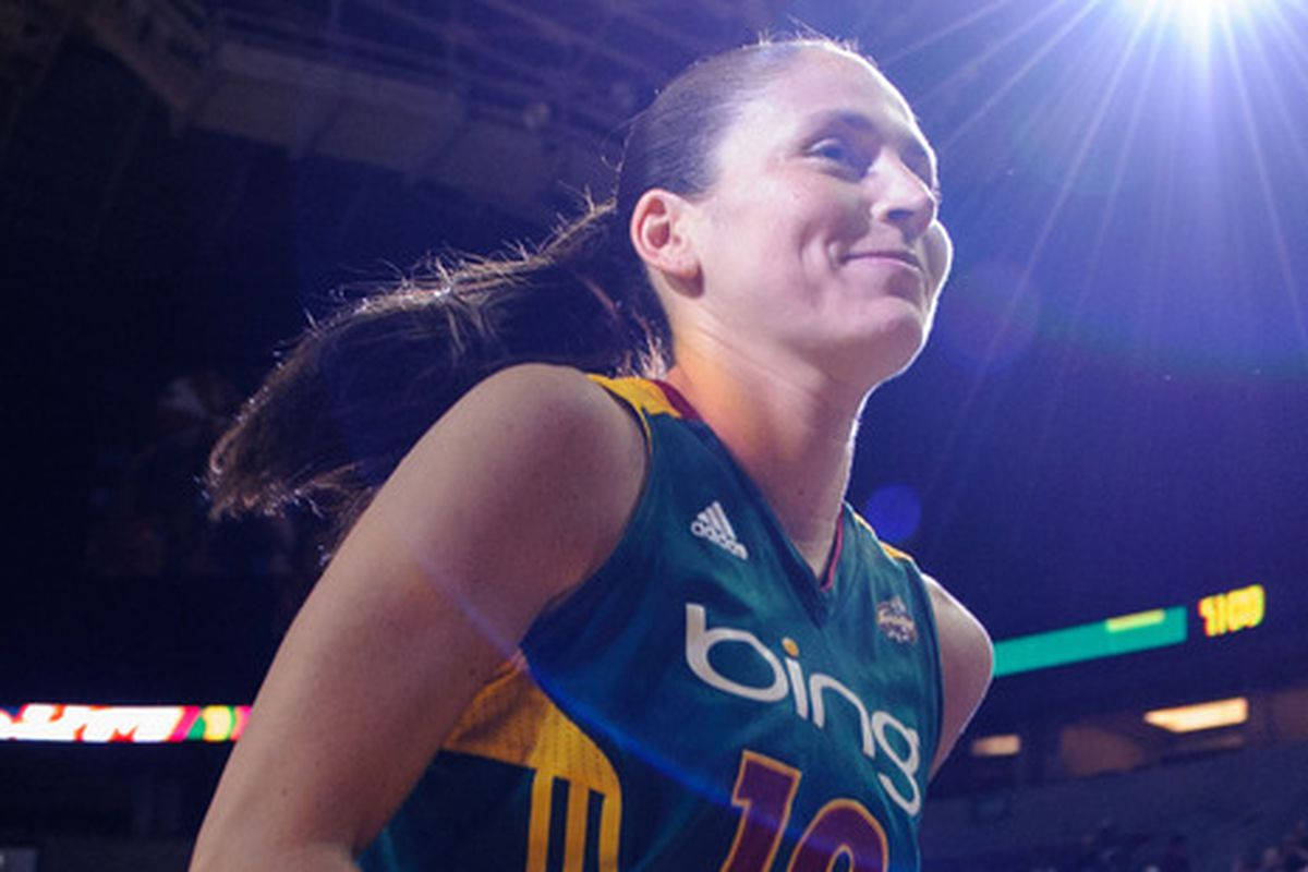 Sue Bird is injured, but is still one of the faces of the franchise