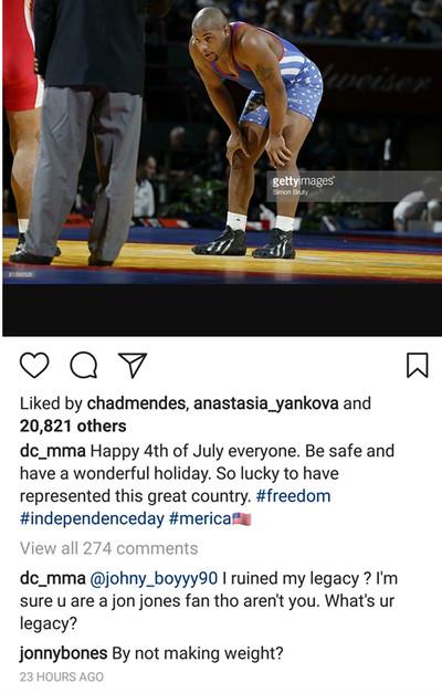 community news, Jon Jones ruins Daniel Cormier's Fourth of July celebration by way of Olympic scale fail
