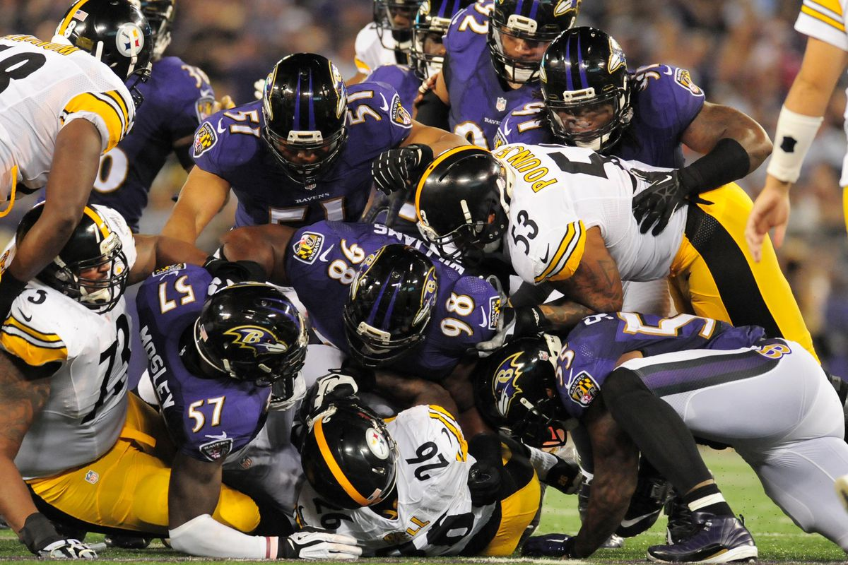 This picture sums up the Ravens-Steelers rivalry.