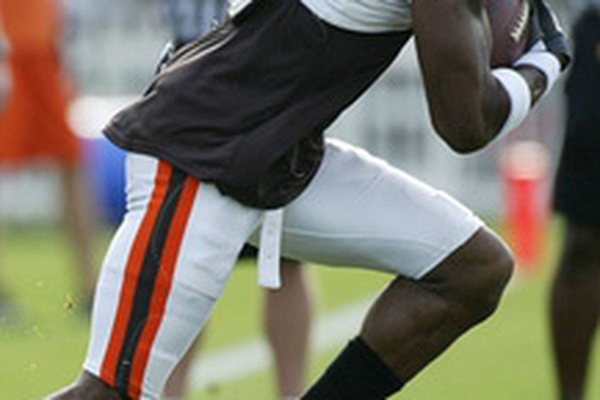 Cleveland Browns WR Braylon Edwards made his debut in training camp on Day 5. He didn't disappoint.