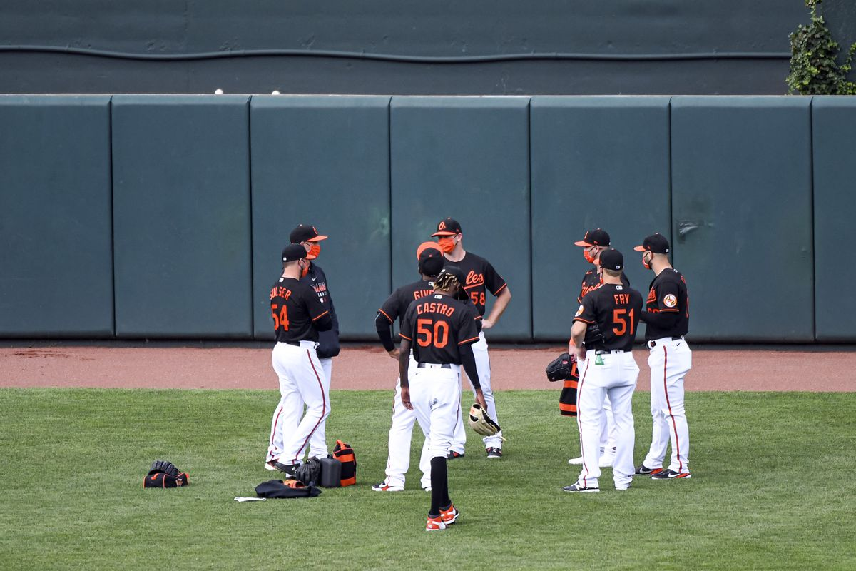 MLB: AUG 05 Marlins at Orioles Game 1