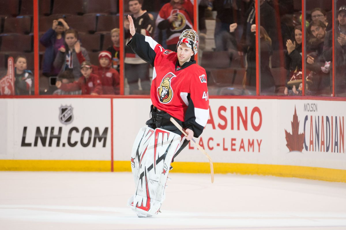 Craig Anderson is on top of the world.