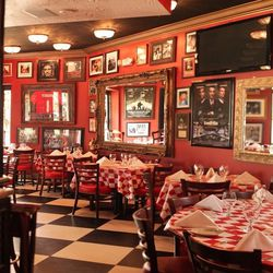 Randazzo's Little Italy on Miracle Mile is the epitome of a family-style Italian spot with the tiled floors, checkered table cloths, and array of photos of famous Italians on the walls.