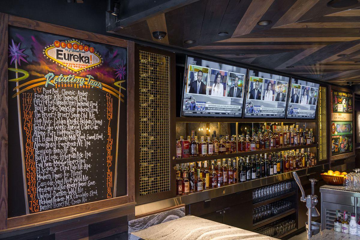 The bar at Eureka!