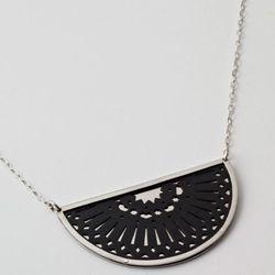 Small Zellij pendant in nickel silver.