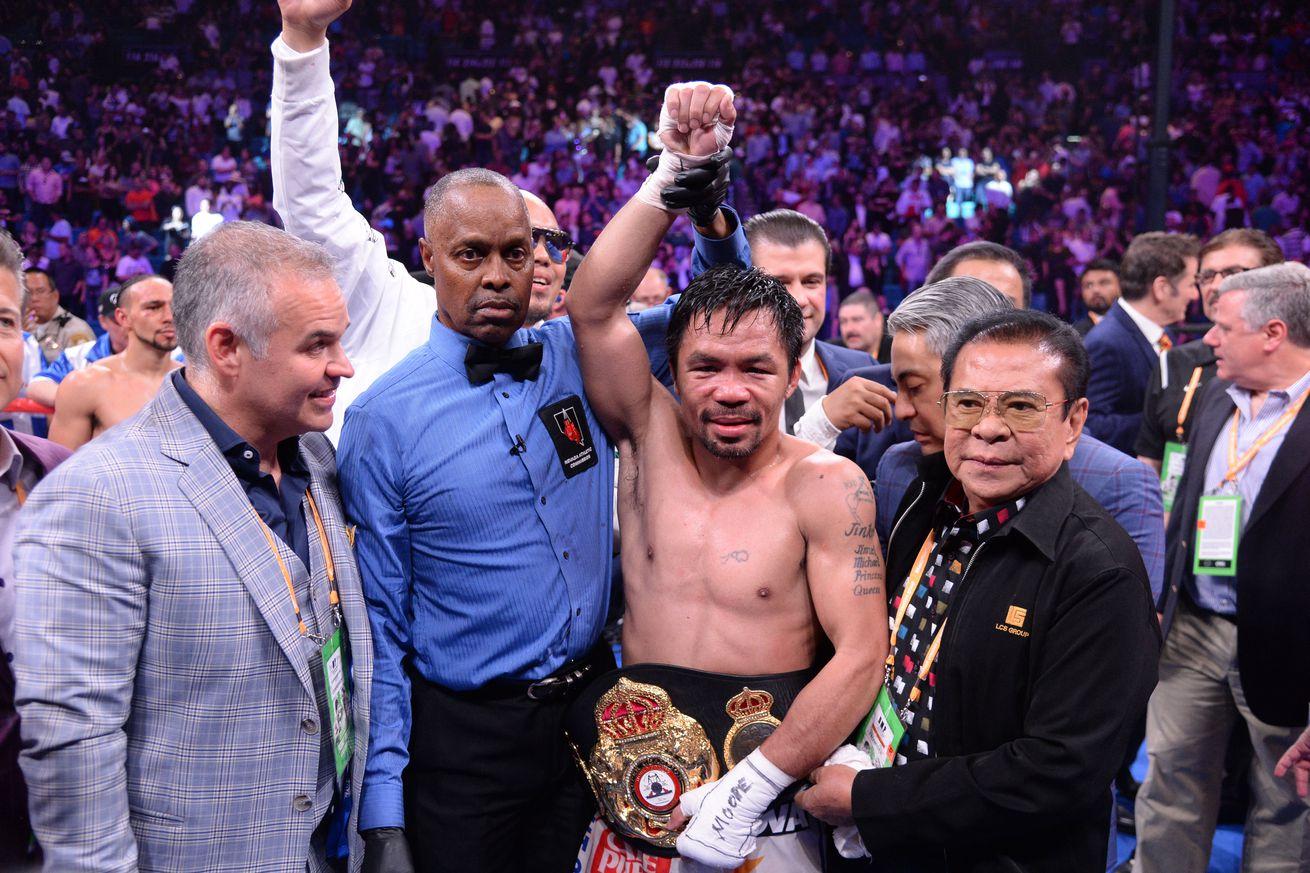 Boxing: Pacquiao vs Thurman
