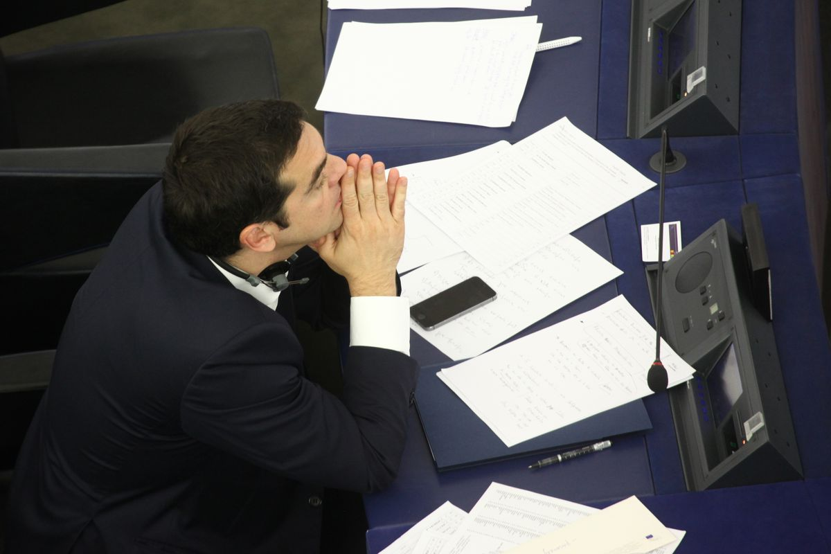 Greek prime minister Alexis Tsipras considers his options.