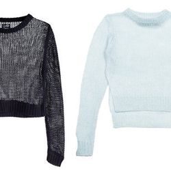 """<b>Nicola Fumo, <a href=""""http://racked.com"""">Racked</a> market editor:</b> """"I like <b>Cheap Monday's</b> open-knit crop sweaters because they breathe while still being substantial, and don't totally shroud the outfit beneath. I got the Nikki sweater (left,"""