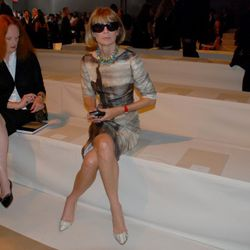 Grace Coddington and Anna Wintour at Donna Karan