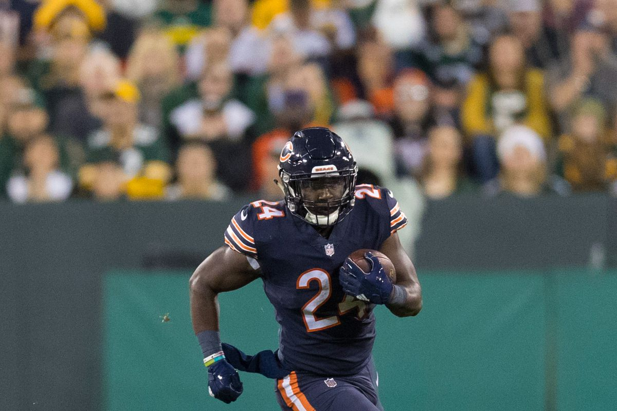Jordan Howard will look to ease the pressure on Mitchell Trubisky in his  first NFL start. Jeff Hanisch-USA TODAY Sports 900404409