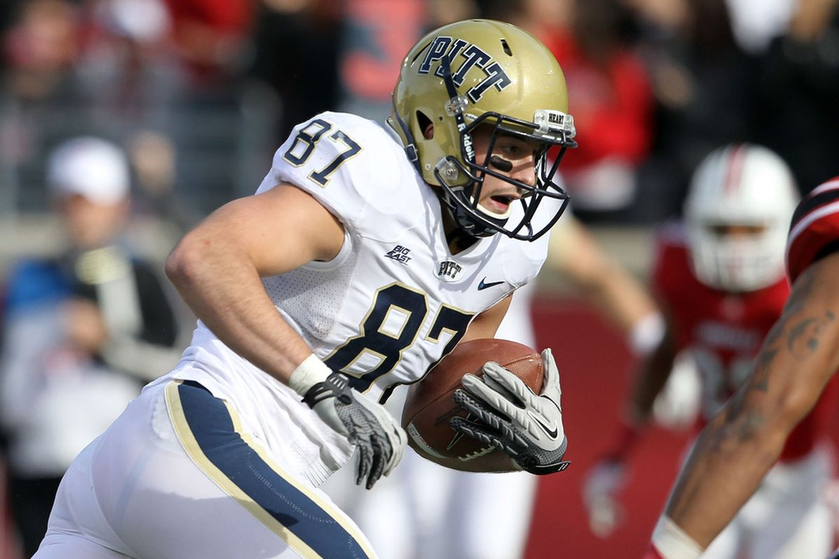 LOUISVILLE, KY - Mike Shanahan is among two Pitt Panther receivers on the Biletnikoff watch-list.  (Photo by Andy Lyons/Getty Images)