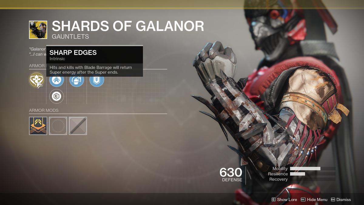 Shards of Galanor Exotic Destiny 2