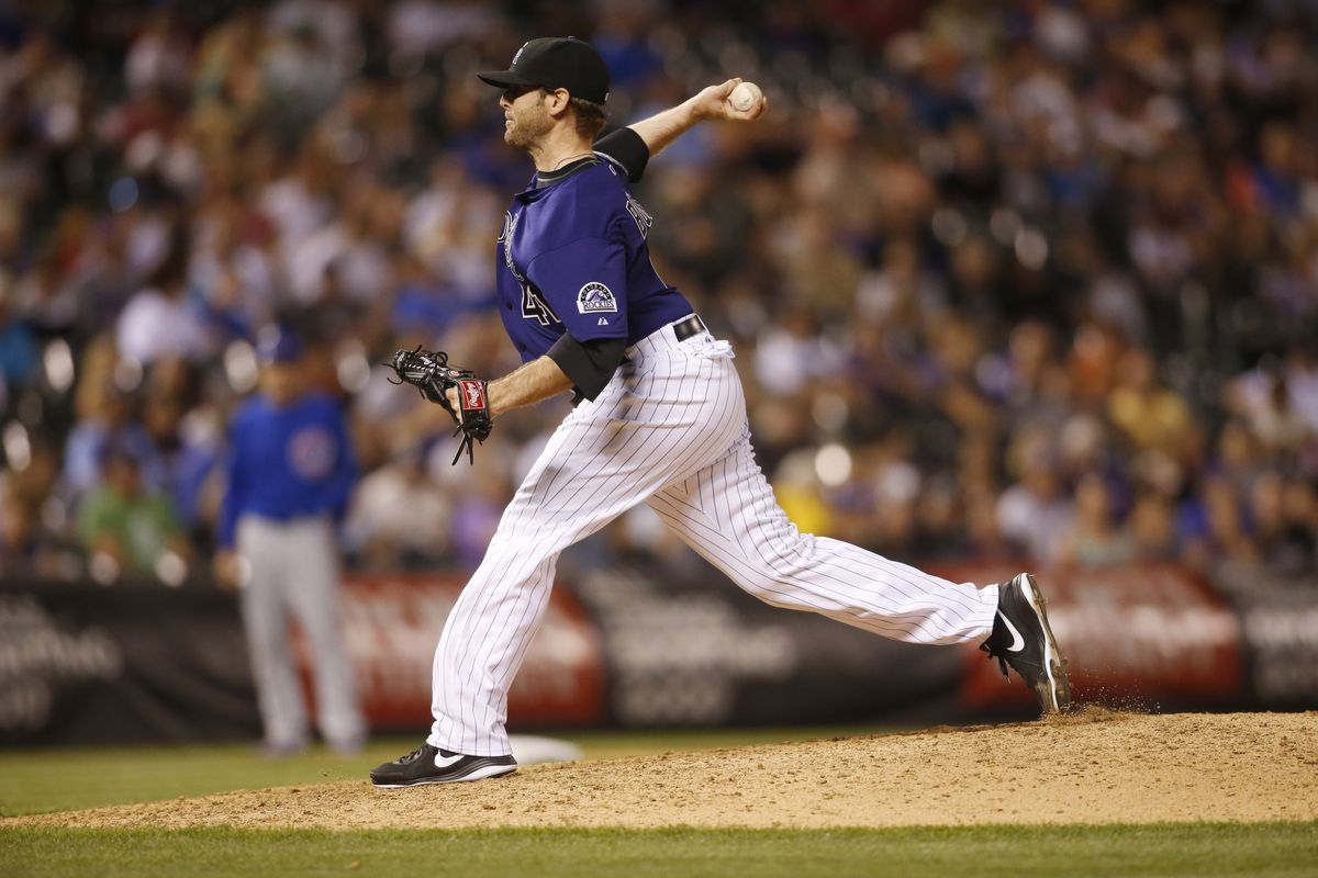 Mitchell Boggs was the Rockies most significant in-season acquisition in 2013.