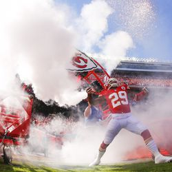 Eric Berry #29 of the Kansas City Chiefs heads through the tunnel during player introductions before game against the Oakland Raiders October 13, 2013 at Arrowhead Stadium in Kansas City, Missouri.