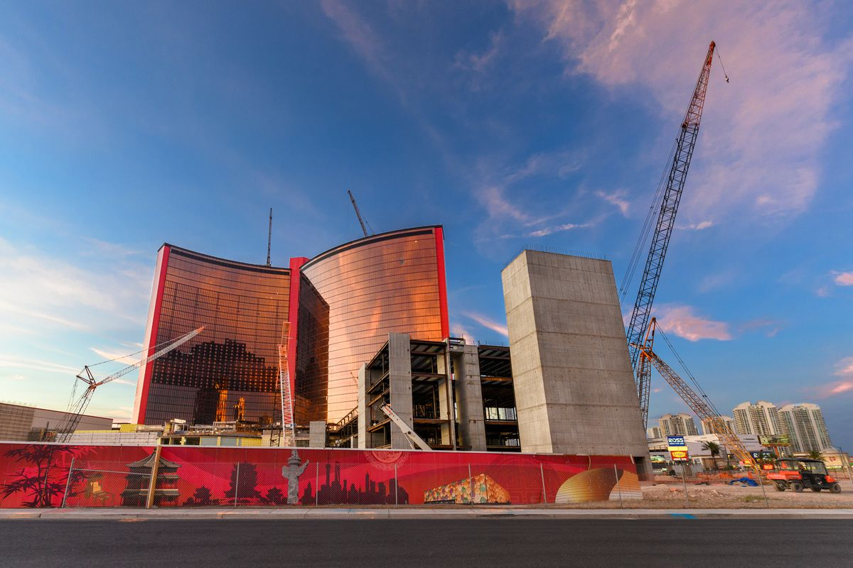 A casino under construction
