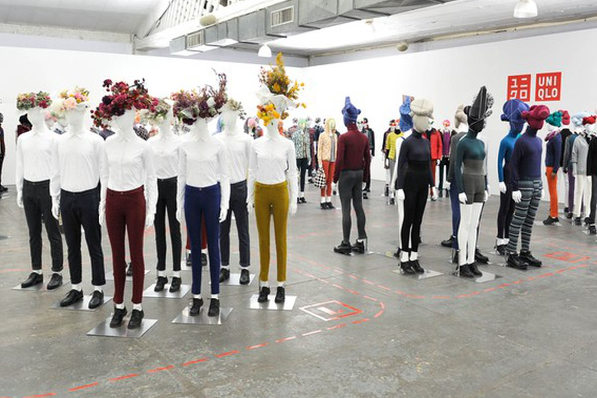 Uniqlo's LifeWear presentation, styled by Uniqlo's fashion director Nicola Formichetti
