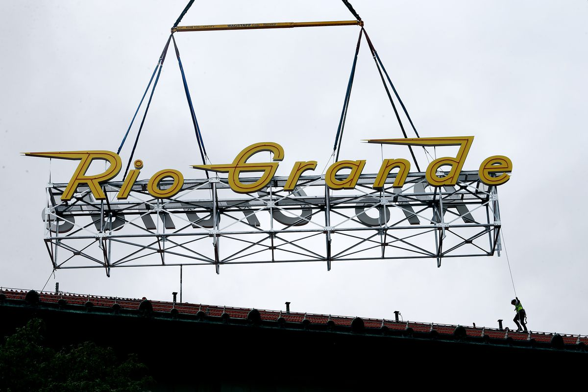 Rio Grande Depot's historical neon sign replaced with LED replica