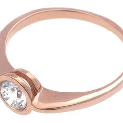 """Bario Neal <a href=""""http://bario-neal.com/jewelry/engagement-rings/yucca-ring"""">Yucca Ring</a>, $1,465+. Shown with a .35ct diamond in 14kt rose gold with a high polish finish.  Available in a variety of metals with a high-polish or matte finish."""