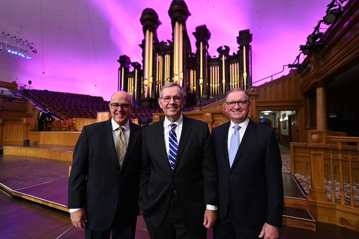 The new Tabernacle Choir presidency includes L. Whitney Clayton and Gary B. Porter, who will serve with choir president Michael O. Leavitt.