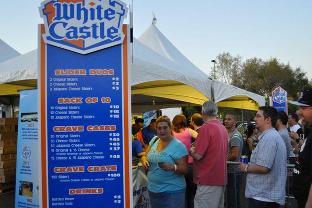 The four-hour lines for White Castle last April