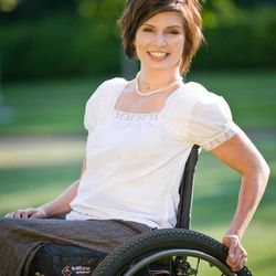 """Meg Johnson talks about lessons learned from losing the use of her legs in a talk on CD """"When Life Gets Hard."""""""