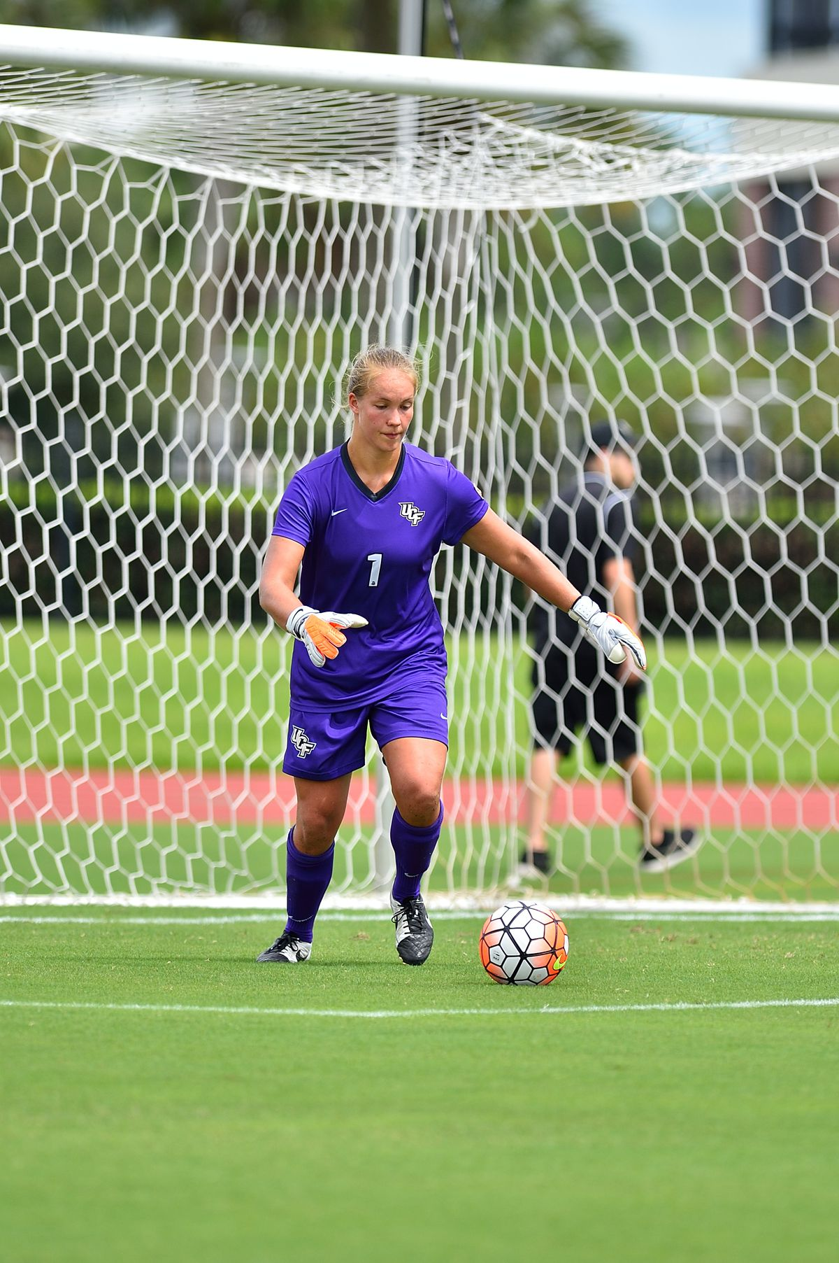 UCF goalkeeper Vera Varis stood on her head in UCF's last two matches of 2015, only to come up short in extra time and PKs. (Photo: UCF Athletics)