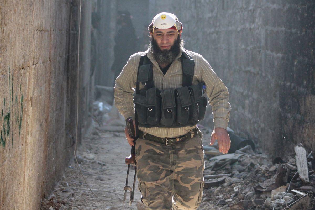 syrian rebel aleppo april