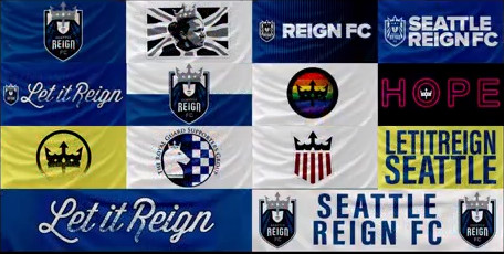 FIFA NWSL Reign Banners