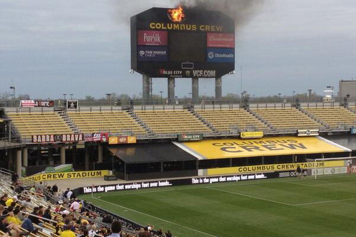 SCOREBOARD FIRE at Columbus Crew Stadium - SBNation.com