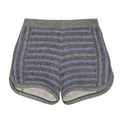 """<a href=""""http://www.theoutnet.com/product/384086"""">Striped cotton-terry shorts</a>, $50 (was $125)"""