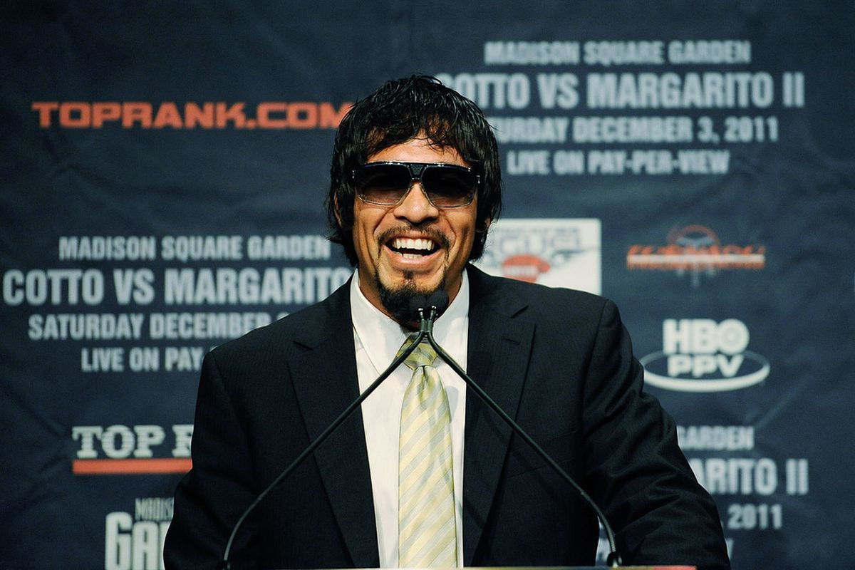 NEW YORK, NY - SEPTEMBER 20:  Professional boxer Antonio Margarito speaks during a press conference at the Edison Ballroom on September 20, 2011 in New York City.  (Photo by Patrick McDermott/Getty Images)