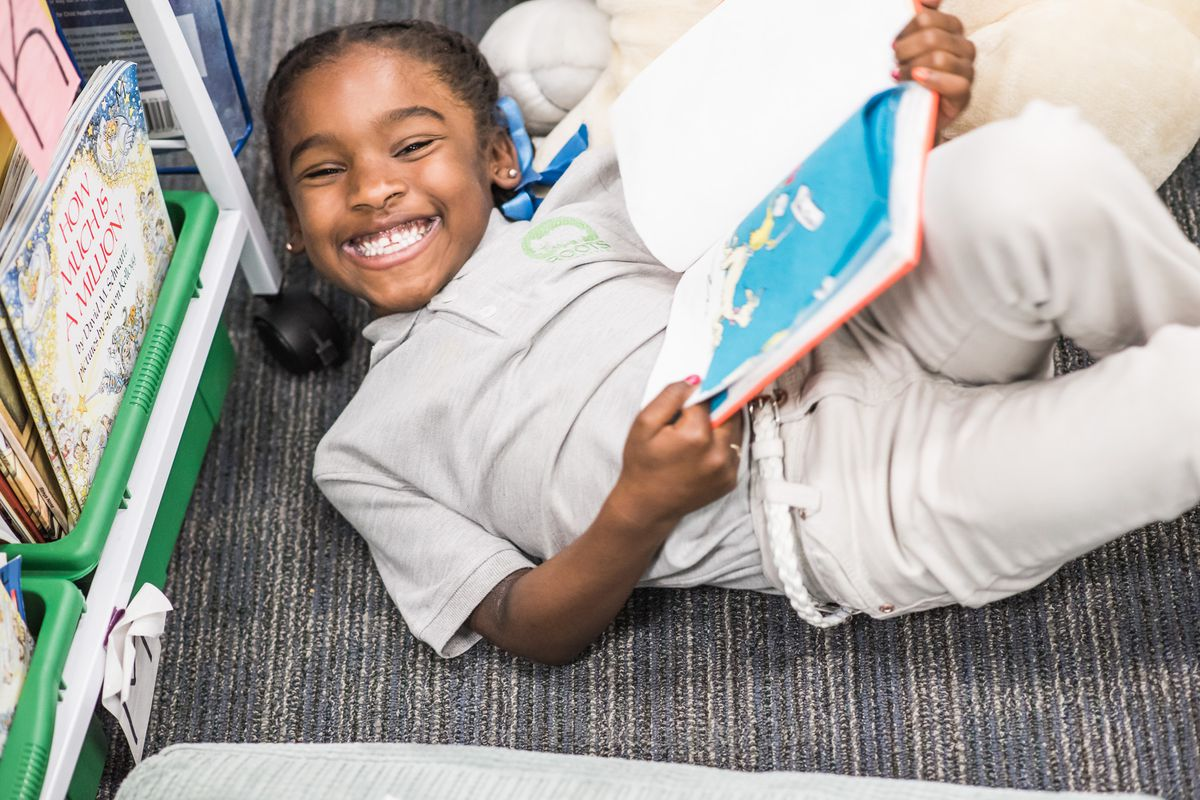A student at Roots Elementary in Denver.