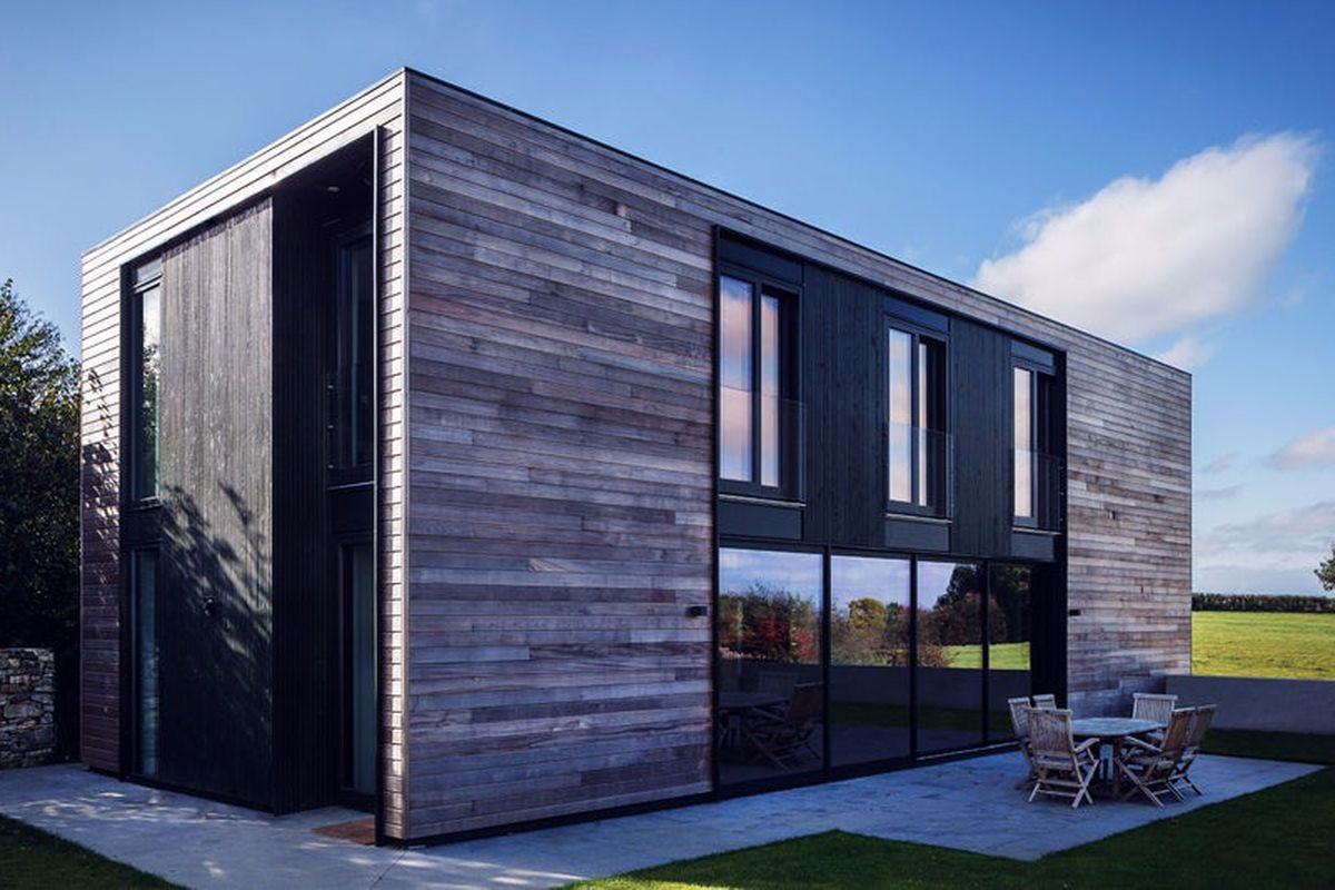 Prefab Kiss House designed to passive house standards is