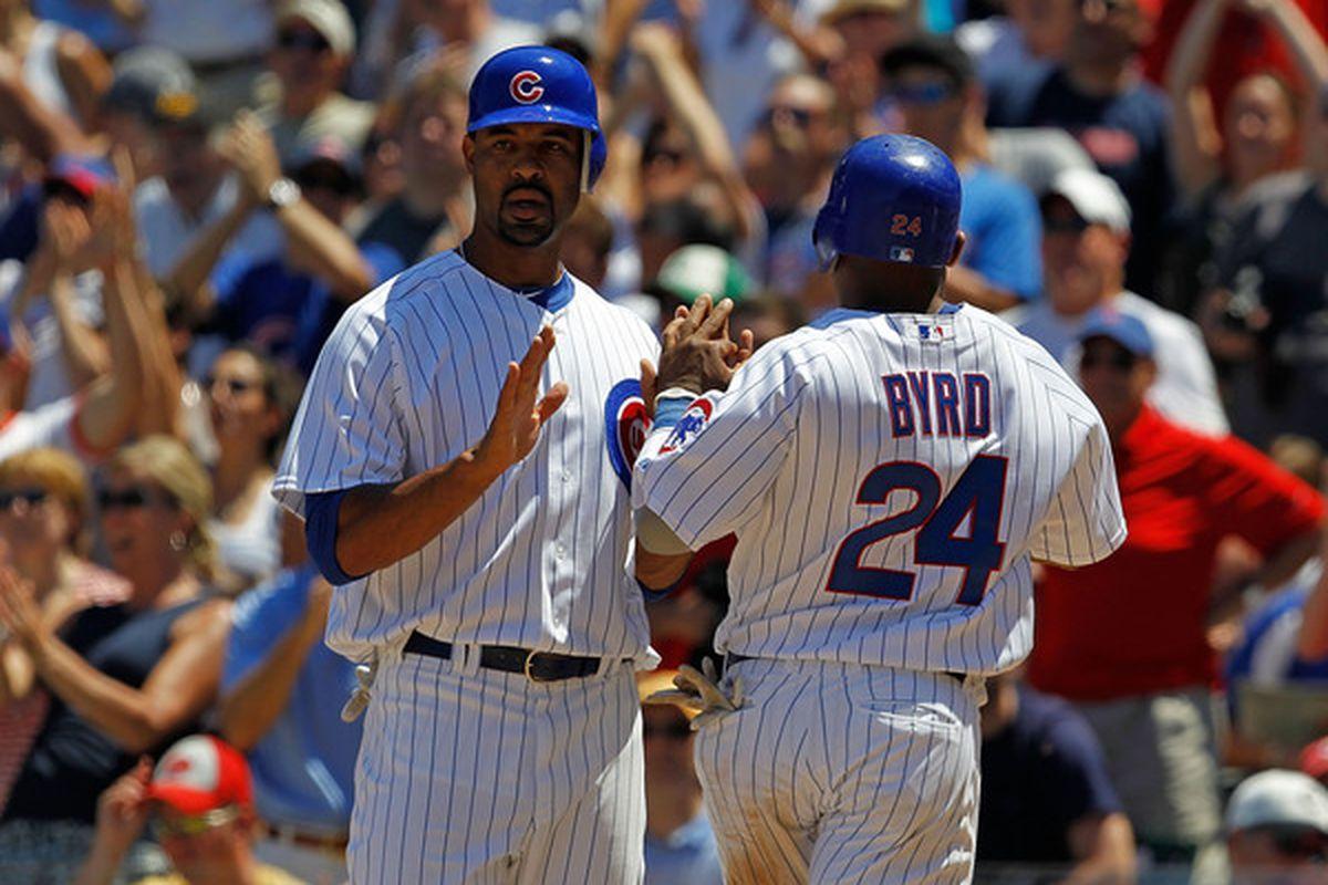 A rare sight: Cubs scoring runs.