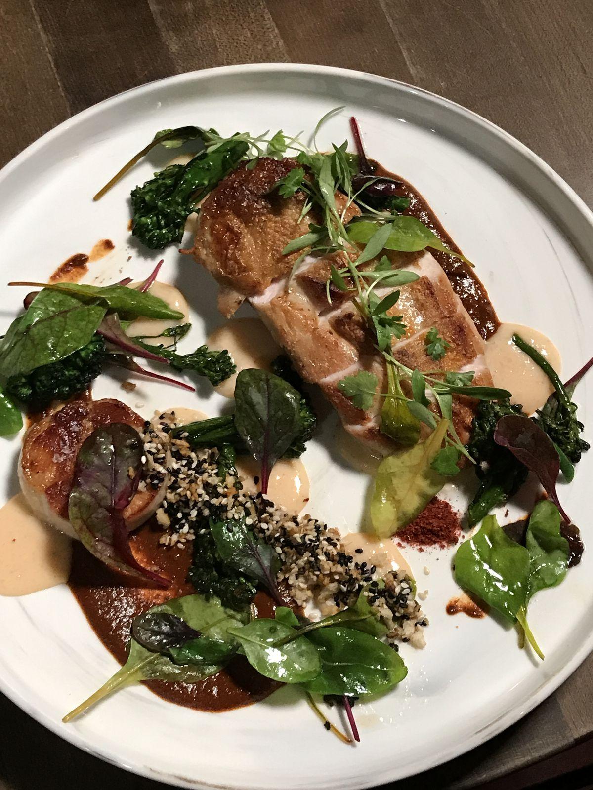 A dinner entree at Band of Bohemia restaurant in Ravenswood.   Ji Suk Yi/Sun-Times