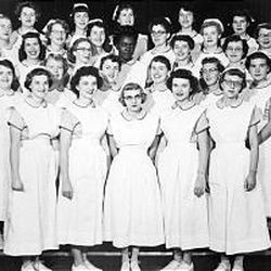 Weber State's first class of nurses graduated in 1955.