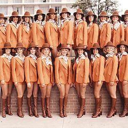 """Stewardesses graduating from Southwest's training program in 1977. Photo via <a href-""""http://www.tlc.com/tv-shows/on-the-fly/photos/southwest-vintage-flight-attendant-fashion-pictures.htm"""">TLC.</a>"""
