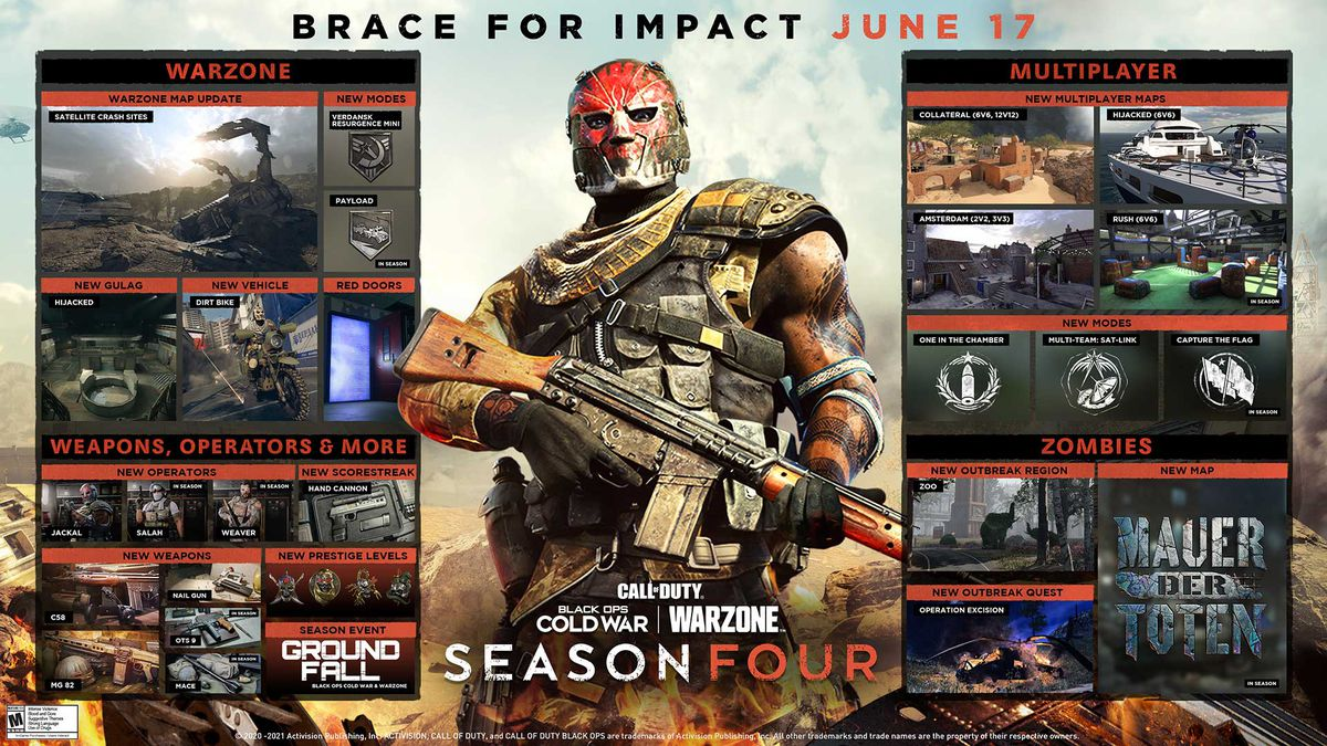 Call of Duty: Warzone and Black Ops Cold War season 4 roadmap revealed -  Polygon