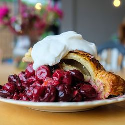 Michigan sour cherry pie at Sister Pie in Detroit