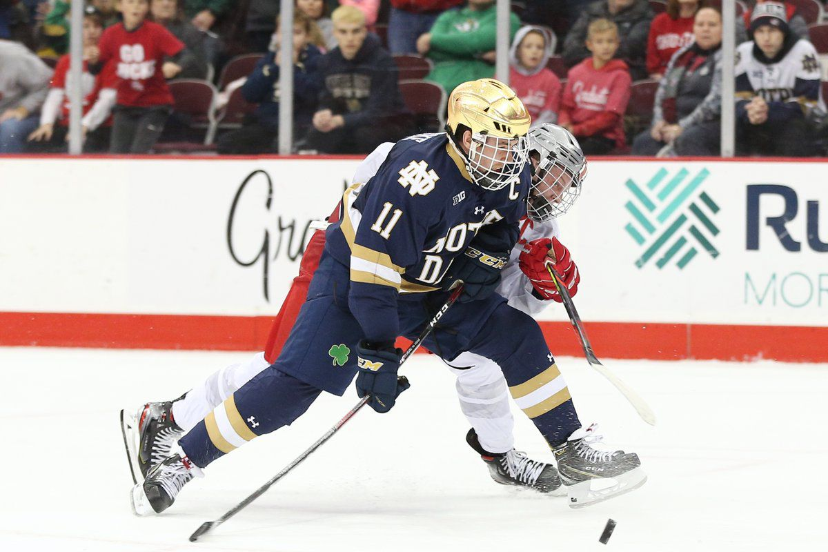 Big 10 Hockey: Notre Dame Falls to Ohio State 2-1 in Columbus