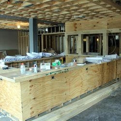 Large center bar will have seating for 16 to 18.