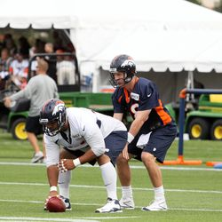Peyton Manning at 2013 training camp