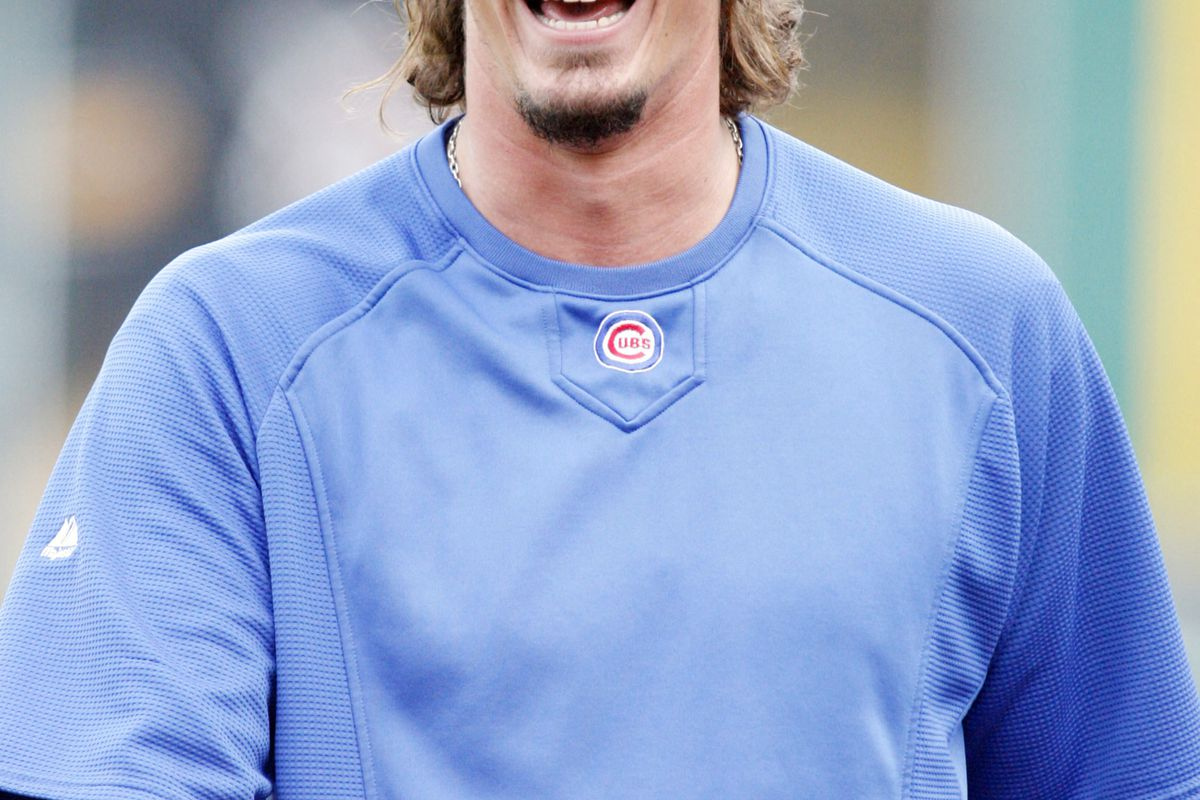 Pittsburgh, PA, USA; Chicago Cubs starting pitcher Jeff Samardzija reacts on the field before the game against the Pittsburgh Pirates at PNC Park. Credit: Charles LeClaire-US PRESSWIRE