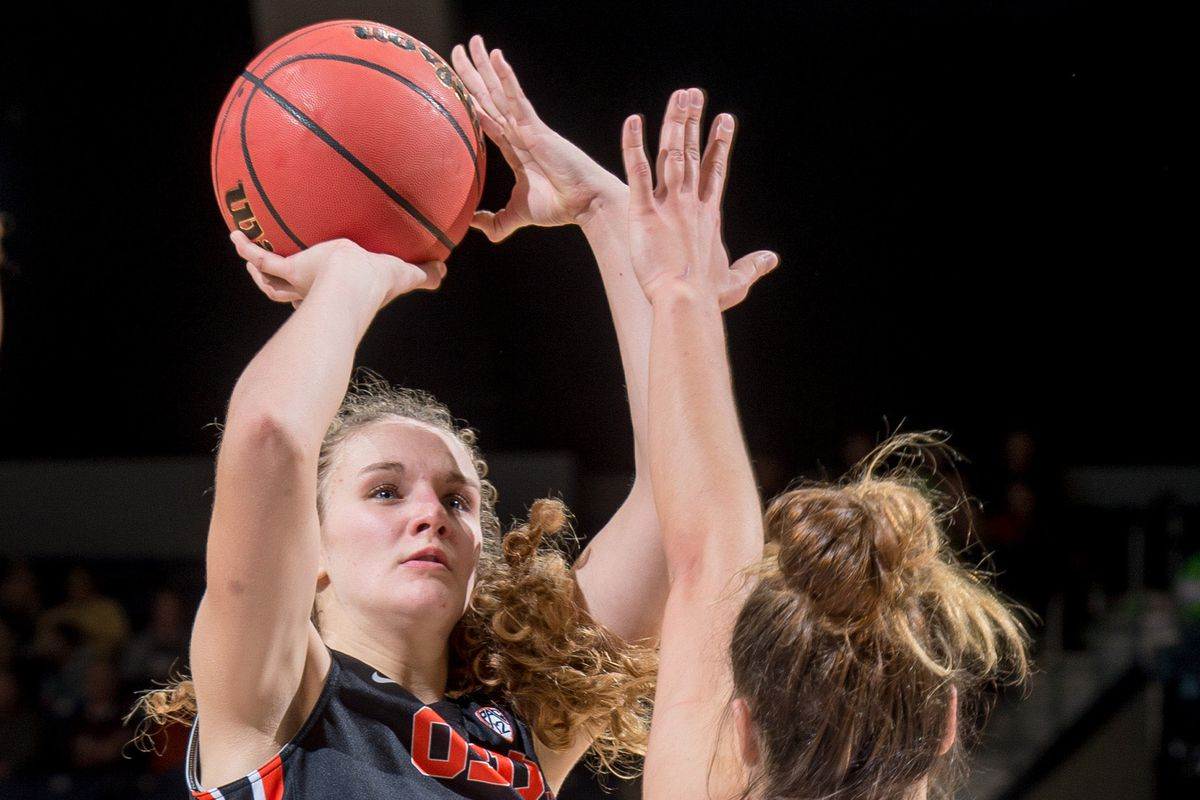 Freshman guard Katie McWilliams' on the court leadership helped Oregon State win their first Pac-12 conference game