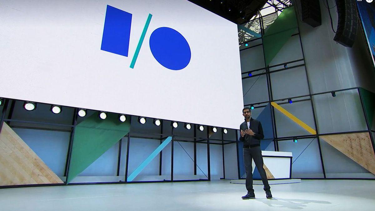 Sundar Pichai at Google I/O 2017